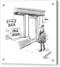 New Yorker February 16th, 1987 Acrylic Print by Dana Fradon