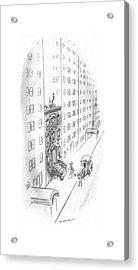 New Yorker February 17th, 1940 Acrylic Print by Leonard Dove