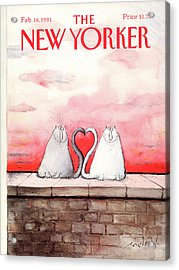 New Yorker February 18th, 1991 Acrylic Print by Ronald Searle