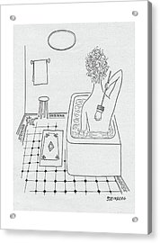 New Yorker February 19th, 1949 Acrylic Print by Saul Steinberg