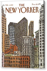 New Yorker February 1st, 1982 Acrylic Print