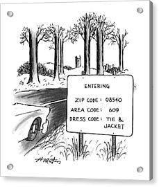 New Yorker February 1st, 1993 Acrylic Print