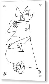 New Yorker February 20th, 1960 Acrylic Print by Saul Steinberg