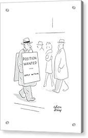 New Yorker February 21st, 1942 Acrylic Print