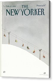 New Yorker February 27th, 1984 Acrylic Print by Abel Quezada