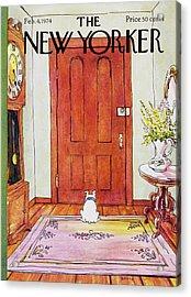 New Yorker February 4th 1974 Acrylic Print