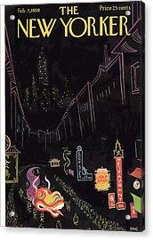 New Yorker February 7th, 1959 Acrylic Print by Robert Kraus