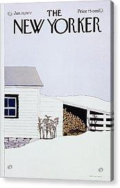 New Yorker January 10th 1977 Acrylic Print