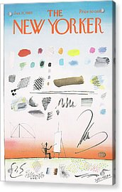 New Yorker January 11th, 1969 Acrylic Print by Saul Steinberg