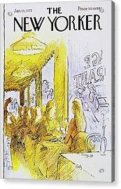 New Yorker January 13th 1975 Acrylic Print