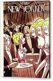 New Yorker January 15th, 1938 Acrylic Print