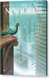New Yorker January 15th, 2007 Acrylic Print by Eric Drooker