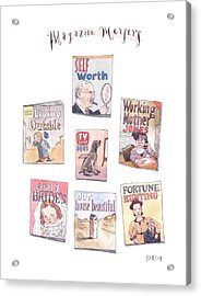 New Yorker January 18th, 1999 Acrylic Print by Barry Blitt