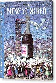 New Yorker January 1st, 1990 Acrylic Print