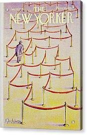 New Yorker January 20th 1975 Acrylic Print