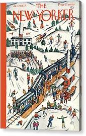 New Yorker January 23rd, 1937 Acrylic Print by Ilonka Karasz