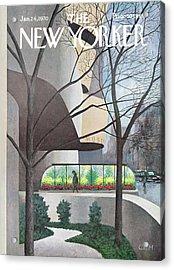 New Yorker January 24th, 1970 Acrylic Print