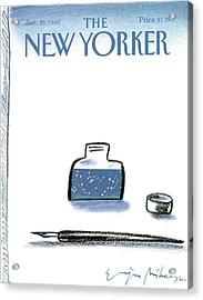 New Yorker January 25th, 1988 Acrylic Print