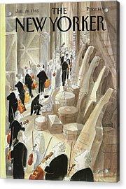 New Yorker January 28th, 1985 Acrylic Print
