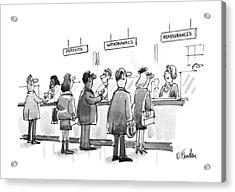 New Yorker January 28th, 1991 Acrylic Print by Dana Frado