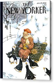 New Yorker January 29th, 2001 Acrylic Print by Peter de Seve