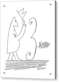 New Yorker January 5th, 1963 Acrylic Print by Saul Steinberg