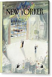 New Yorker January 5th, 1987 Acrylic Print by Jean-Jacques Sempe