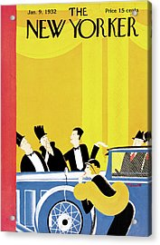 New Yorker January 9th, 1932 Acrylic Print