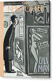 New Yorker January 9th, 1954 Acrylic Print