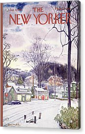 New Yorker January 9th, 1965 Acrylic Print by Albert Hubbell