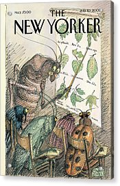 New Yorker July 10th, 2000 Acrylic Print by Edward Sorel