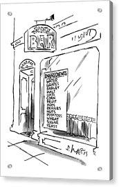 New Yorker July 16th, 1990 Acrylic Print by Sidney Harris