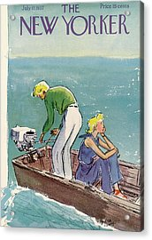New Yorker July 17th, 1937 Acrylic Print by Alice Harvey