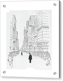 New Yorker July 25th, 1942 Acrylic Print by Robert J. Day