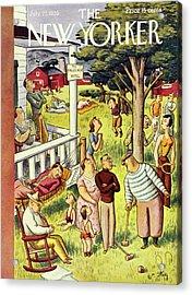 New Yorker July 27 1935 Acrylic Print
