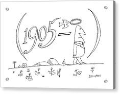 New Yorker July 28th, 1962 Acrylic Print by Saul Steinberg