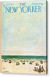 New Yorker July 29th, 1961 Acrylic Print by Abe Birnbaum