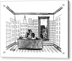 New Yorker July 4th, 1988 Acrylic Print by Warren Miller