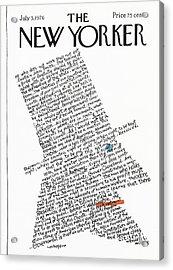 New Yorker July 5th, 1976 Acrylic Print