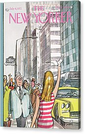 New Yorker July 8th, 1972 Acrylic Print