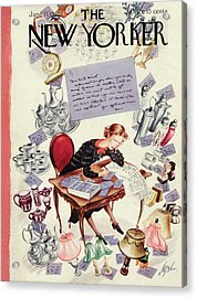 New Yorker June 11th, 1938 Acrylic Print by Constantin Alajalov