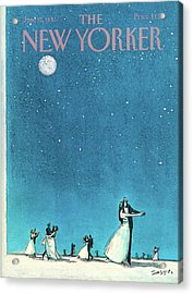 New Yorker June 15th, 1981 Acrylic Print by Charles Saxon