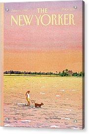 New Yorker June 16th, 1986 Acrylic Print