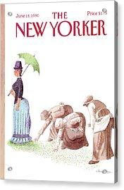 New Yorker June 18th, 1990 Acrylic Print by J.B. Handelsman