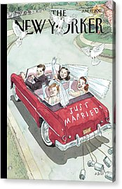 New Yorker June 19th, 2006 Acrylic Print by Barry Blitt