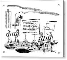 New Yorker June 22nd, 1987 Acrylic Print