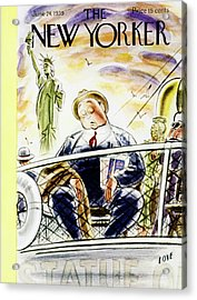 New Yorker June 24 1939 Acrylic Print by Leonard Dove