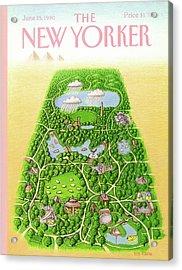 New Yorker June 25th, 1990 Acrylic Print