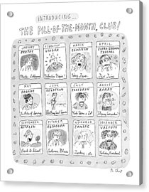 New Yorker June 8th, 1998 Acrylic Print by Roz Chast
