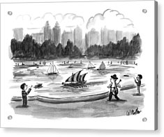 New Yorker June 8th, 1998 Acrylic Print by Warren Miller